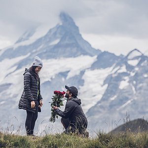 Proposal in Swiss Alps Grindelwald Siomara & Thilanka
